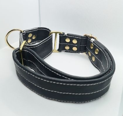 Hand-Made Stunning Leather Padded Collar