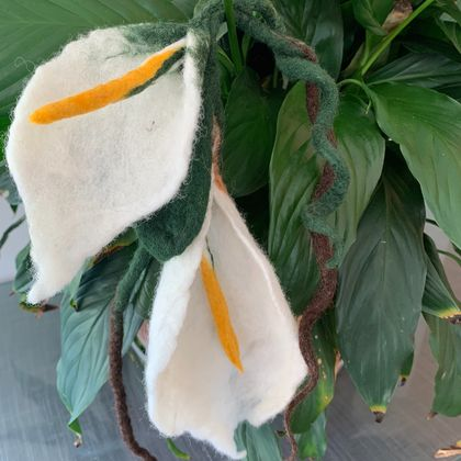 Hand felted lilies - Nuno