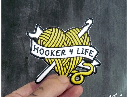 Hooker 4 Life - Iron on Gang Patch