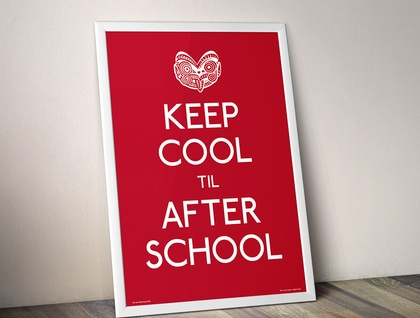 Keep Cool Til After School - Red A2 Poster