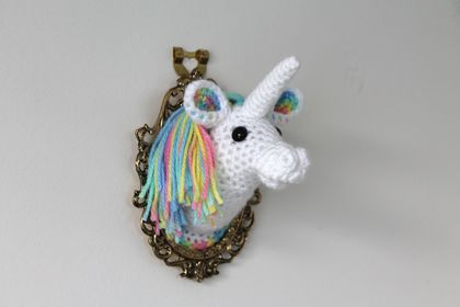 Rainbow Unicorn Fauxidermy Wall Art - Mini