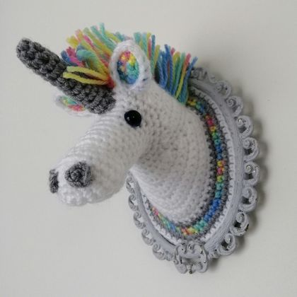 Rainbow Unicorn Fauxidermy Wall Art - Small