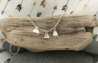 Silver Triangle Necklace 18-037