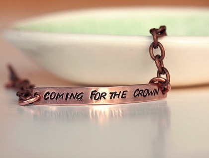 Custom copper bracelet - Lyric or quote of your choice