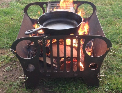 Jeep Firepit  (Optional grill $25.00)