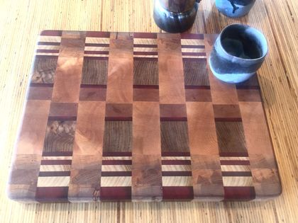 Ash, Mahogany, Elm End grain chopping board