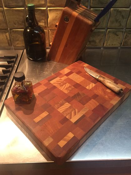 Random End grain chopping board