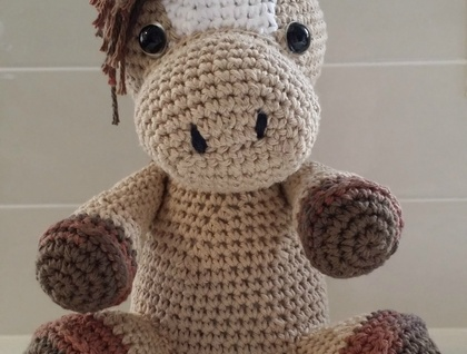 Hand Crocheted Horace the Horse