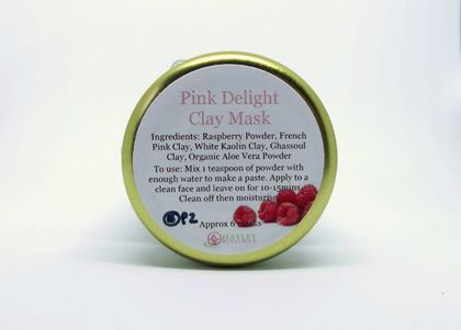 Pink Delight Clay Mask - Natural - Raspberries!