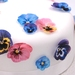 Edible Wafer Paper Pansies