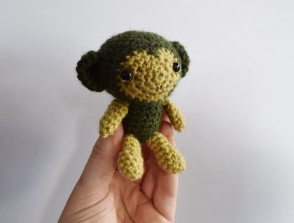 Baby Chimp Crochet Miniature Soft Toy.