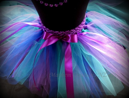 Mayhem Creations NZ Waterfall fairy tutu skirt