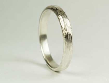 Carved ring in Sterling Silver