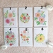 Set of 4 watercolour art print gift cards.