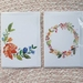 Set of 4 watercolour wreath art print gift cards.