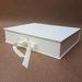 White Keepsake Box / Photo Box (Lipped)