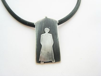 Sterling Silver Dr Who Necklace