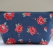 Vintage style floral pattern make-up pouch