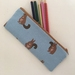 Back to school specials! Squirrel print pencil case / make-up pouch / toiletry pouch