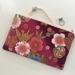 Japanese kimono print medium size pencil case / make-up pouch / toiletry pouch / clutch