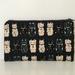Japanese maneki-neko print medium size pencil case / make-up pouch / toiletry pouch / clutch