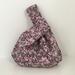 Reversible Japanese knot bag / Make-up bag