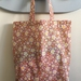 Flowers in pink tote bag / lunch bag / nappy bag / lessons bag
