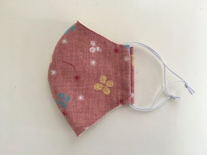Kimono pattern double layer 3D face mask with filter pocket