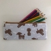 Back to school specials! Toy poodle print pencil case / glasses case / purse