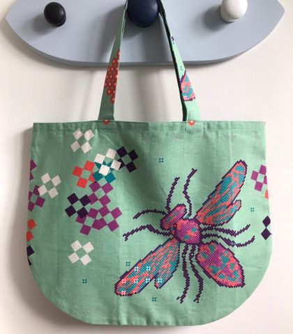 Back to school specials! Foldable round tote bag