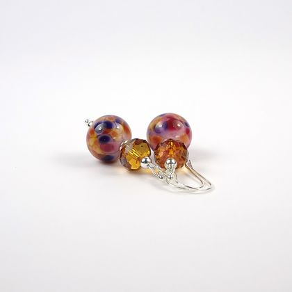 Potpourri Lampwork Earrings