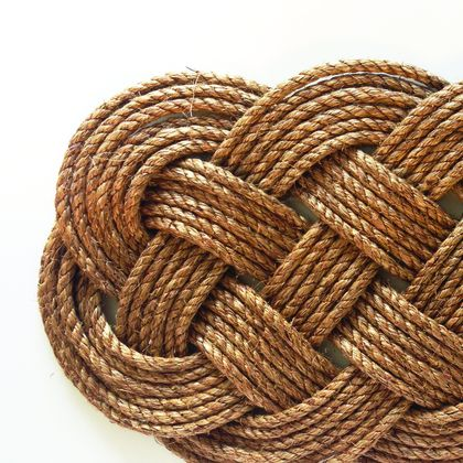 'In knots' Rope Doormat - Ocean Plait