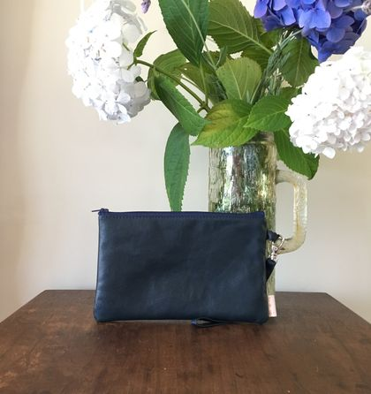 Old Navy leather clutch with wrist strap (small)