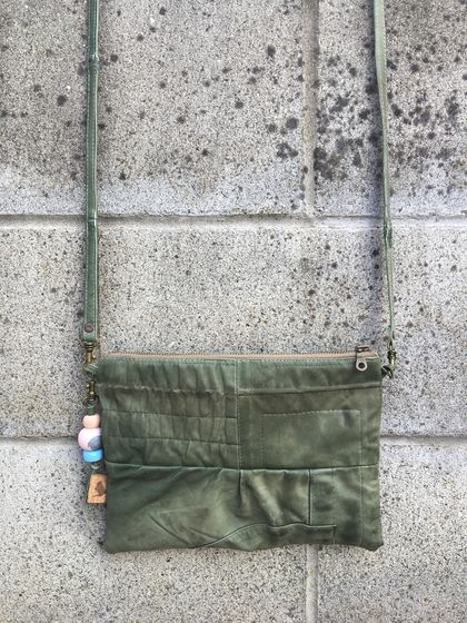 Shade & Moss Leather Crossbody Bag (small)