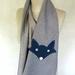 Blue fox infinity scarf