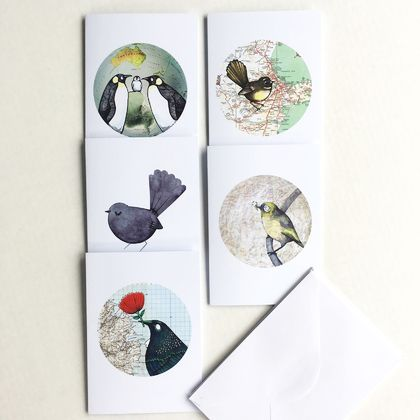 Greeting Cards 5-pack – Birds