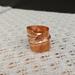 Fold formed wide  leaf ring