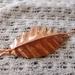 Large fold formed copper leaf pin