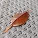 Fold formed leaf shawl pin