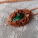Wire wrapped pendant with chrysocolla stone
