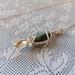 Sterling silver labradorite and leaf necklace