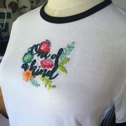 Tshirt - hand embroidered