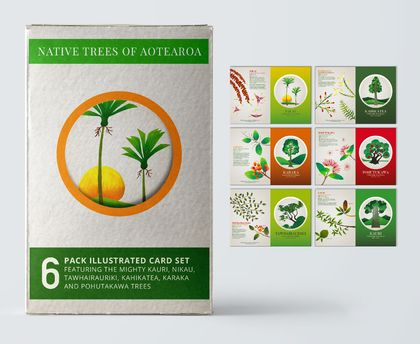 6 card gift pack – Native Trees of Aotearoa.