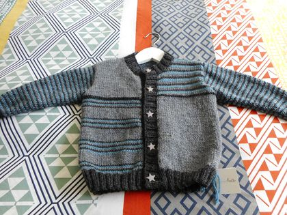 Mismatched striped cardy