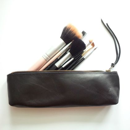 Leather Pencil Case (Make-Up Brush Case)