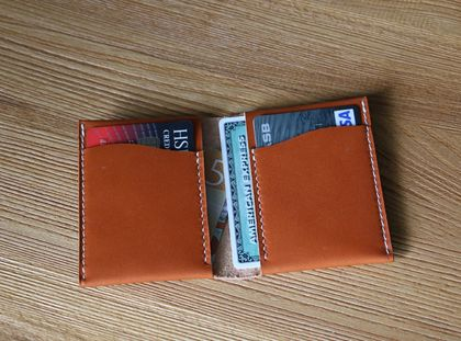 Genuine leather small wallet