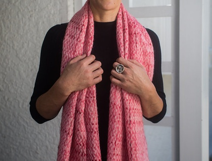 Iconic Sue Bateup Handwoven Scarf