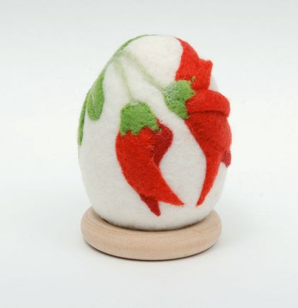 New Zealand Native Flower Felted Egg - Kakabeak