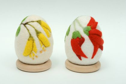 New Zealand Native Flower Felted Eggs
