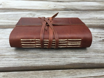 Rustic Whisky Leather Journal - 6 x 4.5 in